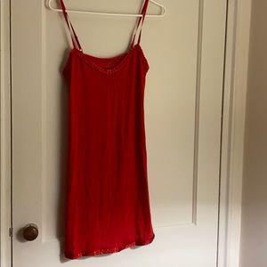NWOT Calvin Klein red pajama dress/ slip